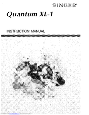 Singer Quantum XL-1 Manuals