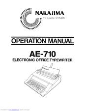 Nakajima AE-710 Manuals