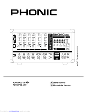 Phonic POWERPOD 620 PLUS Manuals