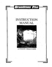 Breadman TR700C Manuals