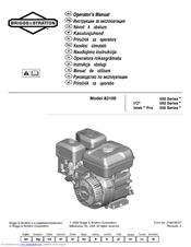Briggs & Stratton 83100 Manuals