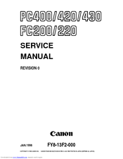 Canon PC420 Manuals