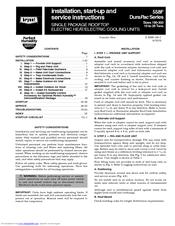 Bryant DURAPAC 558F Manuals
