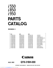 Canon i850 Manuals