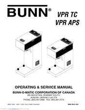 Bunn VPR APS Manuals