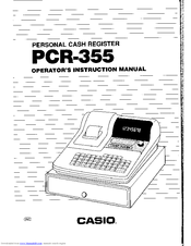 Casio PCR-355 Manuals