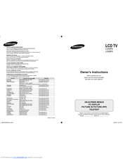 Samsung LE40F8 Manuals