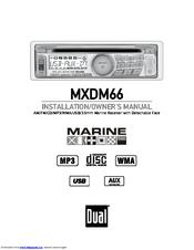 Dual MXDM66 Manuals