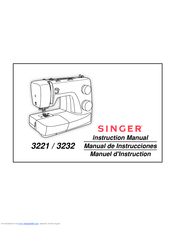 Singer Simple 3221 Manuals