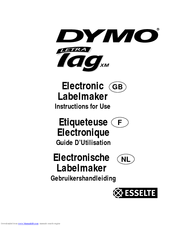 Dymo LetraTAG XM Manuals