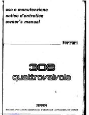Ferrari 308 Quattrovalvole Manuals