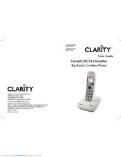 Clarity D704 Manuals