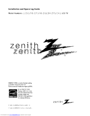 Zenith Z32LC6D Manuals