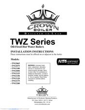 Crown Boiler TWZ100 Manuals