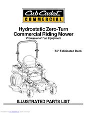 Cub Cadet 23HP Tank Manuals
