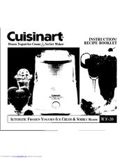Cuisinart ICE-20 Series Manuals