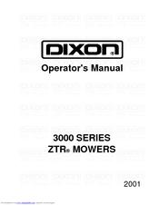 Dixon 2003 ZTR 3304 Manuals