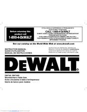 Dewalt DW746 Manuals