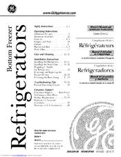 Ge SIDE-BY-SIDE REFRIRATOR 22 Manuals