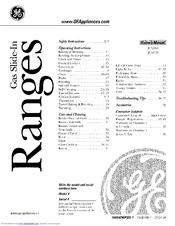 Ge Profile JGS968 SERIES Manuals