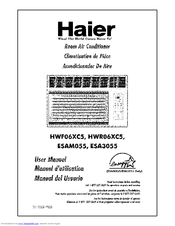 Haier HWR06XC5 Manuals