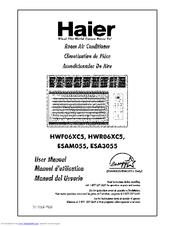 Haier HWR06XC5 Manuals