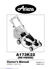 Ariens A173K22 (96146500) Manuals