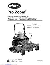 Ariens Max Zoom 60 Manuals