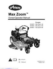 Ariens 991087-Max Zoom 60 Manuals