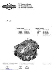 Briggs & Stratton 100000 LX 500 Series Manuals