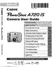 Canon PowerShot A720 IS Manuals