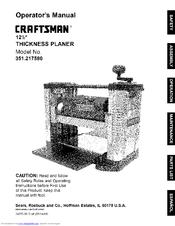 Craftsman 351.217580 Manuals