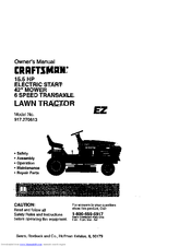 Craftsman 917.270613 Manuals