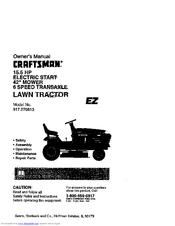 Craftsman 917.270613 Manuals