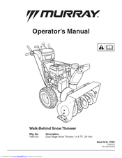 Murray Dual Stage Snow Thrower Manuals