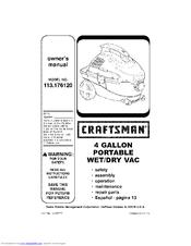 Craftsman 113.176120 Manuals