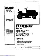 Craftsman 944.609040 Manuals