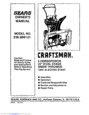 Sears Craftsman 536.886121 Manuals