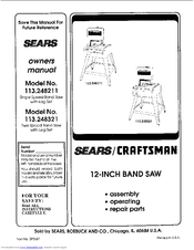 Sears Craftsman 113.248321 Manuals