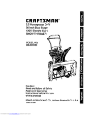 Craftsman 536.886150 Manuals