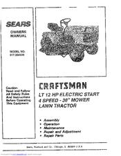 Sears Craftsman 917.254630 Manuals