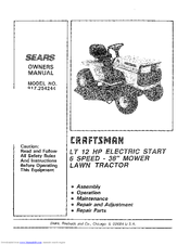 Craftsman 917.254244 Manuals