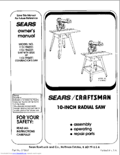 Craftsman 113.196321 Manuals
