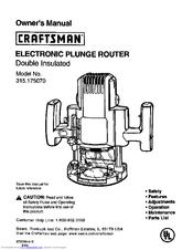 Craftsman 315.175070 Manuals