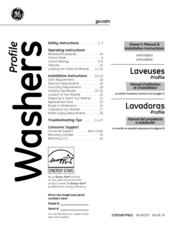 Ge Profile WPDH8850J Manuals