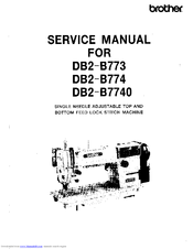 Brother DB2-B774 Manuals