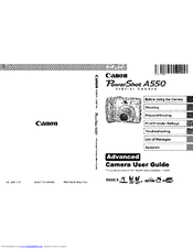 Canon PowerShot A550 Manuals