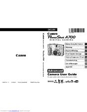 Canon POWERSHOT A700 Manuals