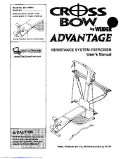 Weider CrossBow ADVANTAGE Manuals