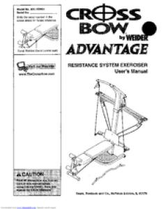Weider crossbow advantage user manual also manuals rh manualslib